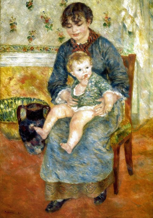 Genremalerei berühmt  Pierre Auguste Renoir - Mother and Child, 1881 | ART pieces ...