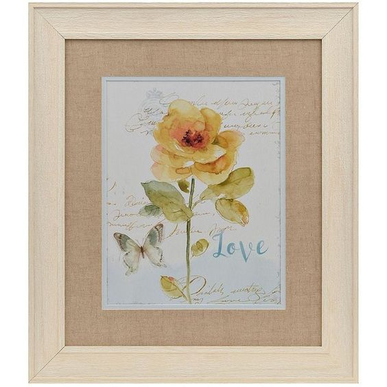 Love Yellow Watercolor Floral Framed Art Print ($20) ❤ liked on Polyvore featuring home, home decor, wall art, watercolor wall art, butterfly framed wall art, yellow wall art, framed floral wall art and yellow home accessories