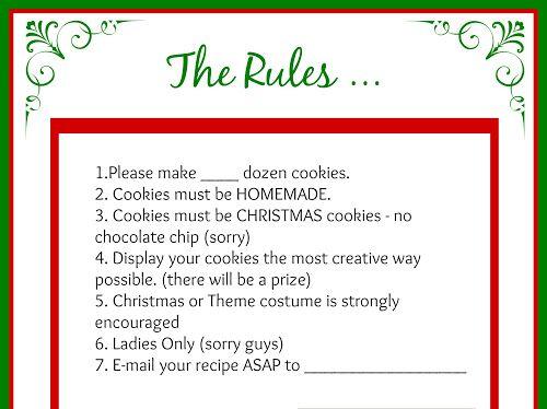 Cookie Swap Printables Google Drive Cookie Swap Cookies Cookie Exchange