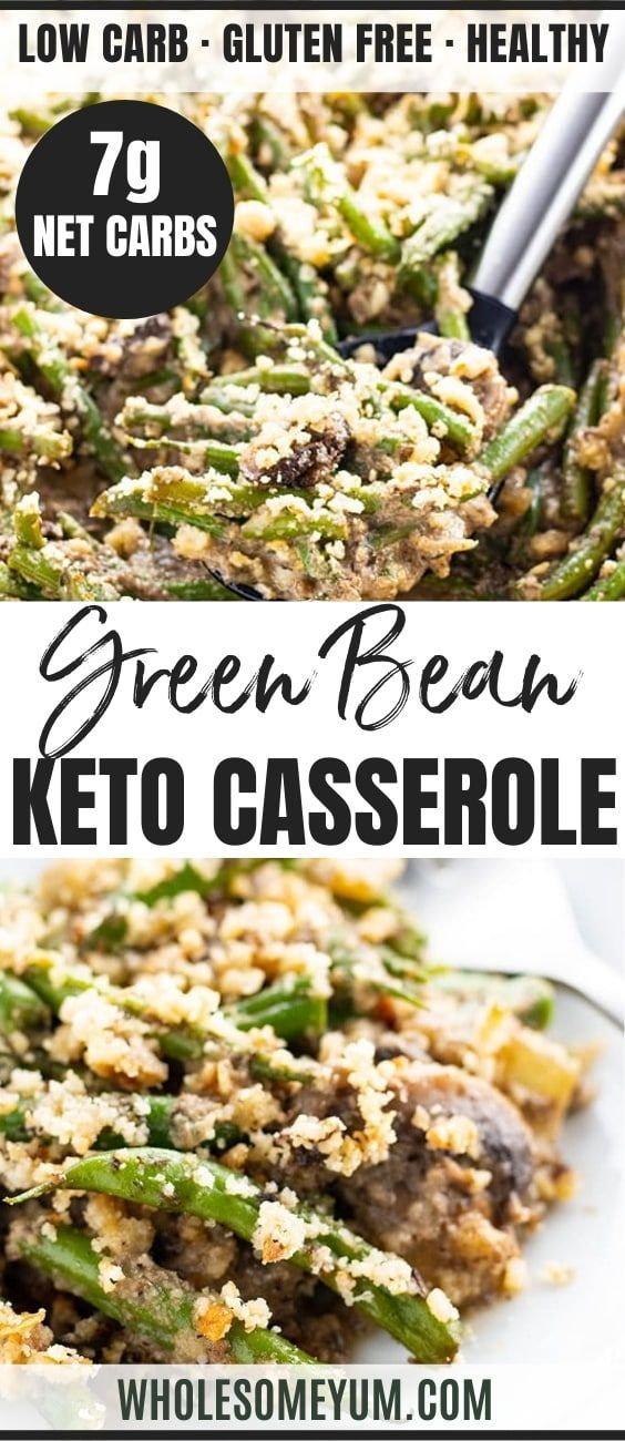 Low Carb Gluten Free Keto Green Bean Casserole Recipe An Easy