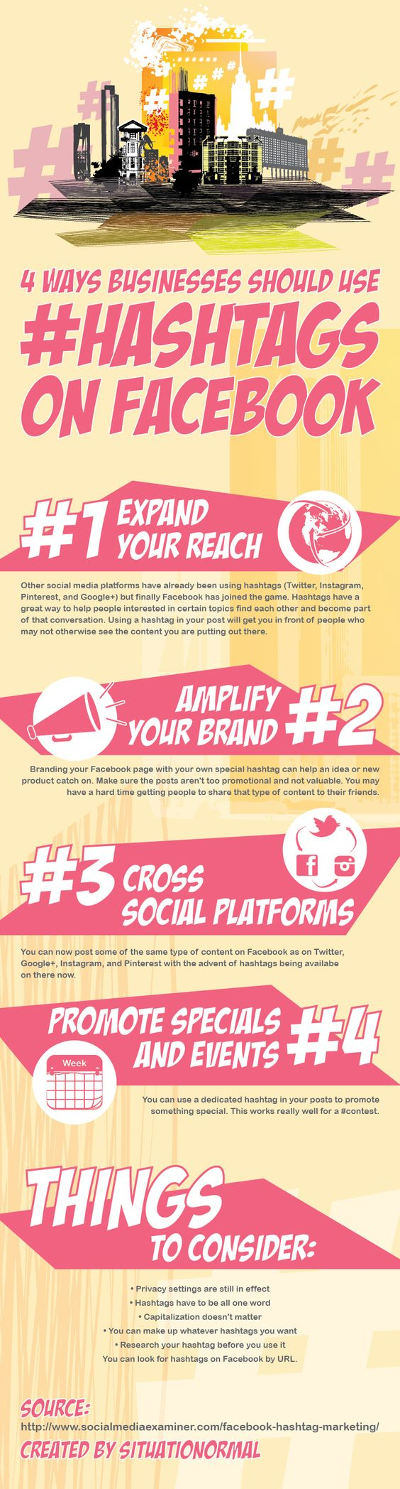 Four Ways Brands Can Use Facebook Hashtags - via SituatioNormal - Montclair NJ