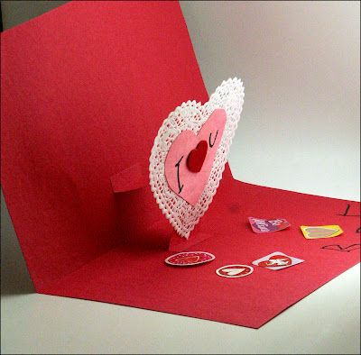 easy popup heart card to make with children – How to Make Pop Up Valentine Cards