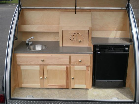 Little guy galley this is so neat one can do anything for Teardrop camper kitchen ideas