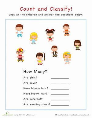 Count and Classify: Animals | Worksheets, Classifying Animals and ...