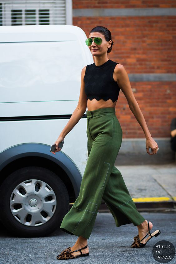 Loving these green pants: