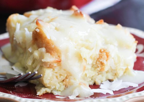 Coconut Bread Pudding with Coconut Cream Sauce Ingredients 3 cups ...