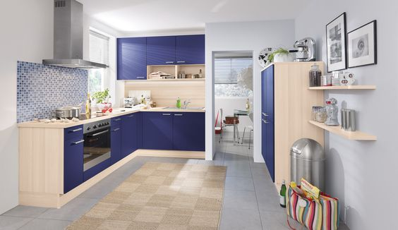 Beautiful Hellblaue K che von Pino by ALNO Light blue kitchen by Pino ALNO Cozinhas fofas quero todas Pinterest Kitchens Kitchen colors and Design trends