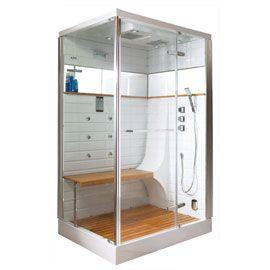 Cabine de douche hammam osaka 130 x 100 cm d co coin salle de bain pinter - Cabine de douche integrale 70 x 100 ...