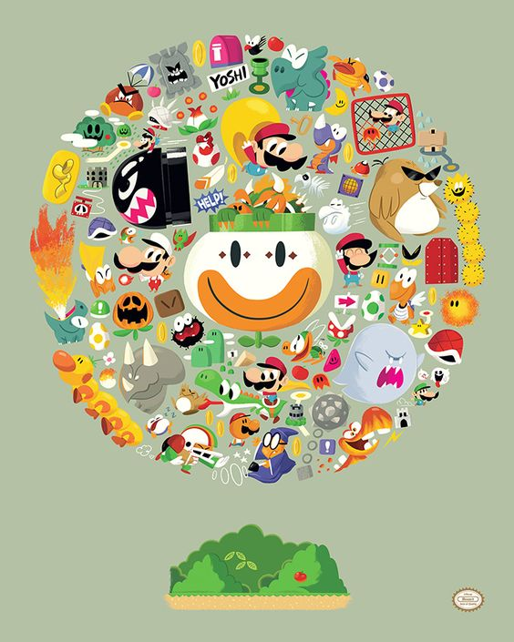 Super Mario World. by Christopher Lee #nintendo #illustration #geeky