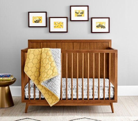 West Elm X Pbk Mid Century 4 In 1 Convertible Crib Baby Stuff