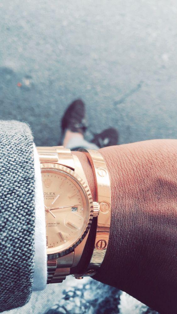 Rolex Day Just meets Cartier Love Bracelet #GarciaTroyMushiya #HouseOfOmegaGarment