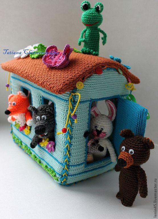 Купить Пальчиковый театр Теремок - пальчиковый театр, пальчиковые куклы, пальчиковые игрушки, теремок, сказка