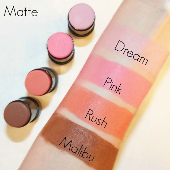Makeup Revolution 'The One' Blush Sticks Matte Swatches