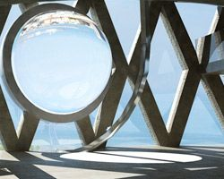 esférica de vidro gerador de energia solar por rawlemon