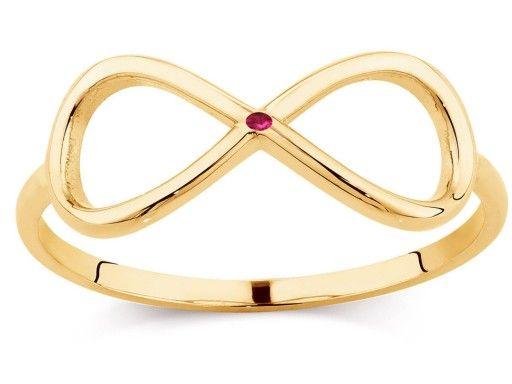 Zloty Pierscionek Gwiazd Rubin 0 01 Ct Infinity 7015780419 Oficjalne Archiwum Allegro Jewelery Gold Gold Bracelet