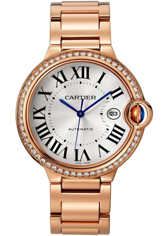 Ballon Bleu De Cartier 42 Mm 18k Pink Gold Diamond Watch Wjbb0038