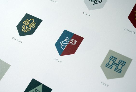 Game of Thrones rebrand, beautiful geekery: $35 -- Sigils of the Houses of Westeros Poster
