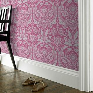 Desire Pink - A stunning grand damask design made modern with the bold fashion led colorways it is available in.