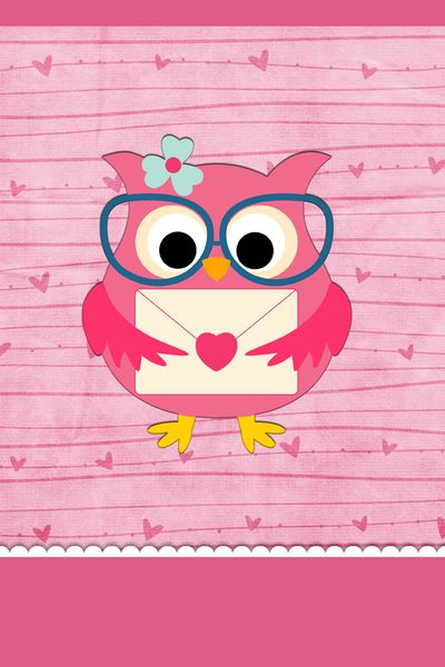 Download Cute Pink Owl Wallpaper Gallery