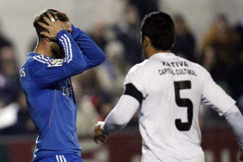Hoy no ha habido suerte. Sergio Ramos