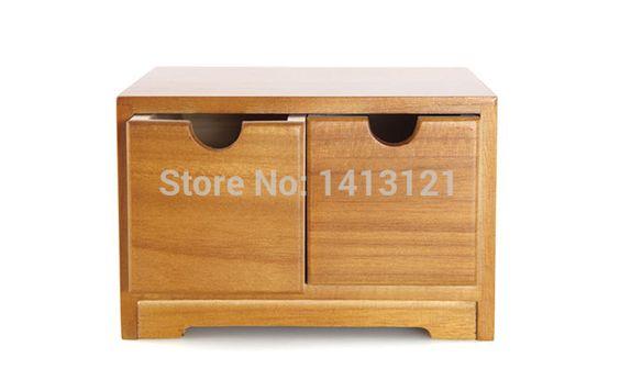 Gratis verzending houten bureau opslag lade puin cosmetische opbergdoos sieraden retro stijl kantoor creatieve thuis supply(China (Mainland))