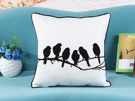 Black and white classic decor throw pillows