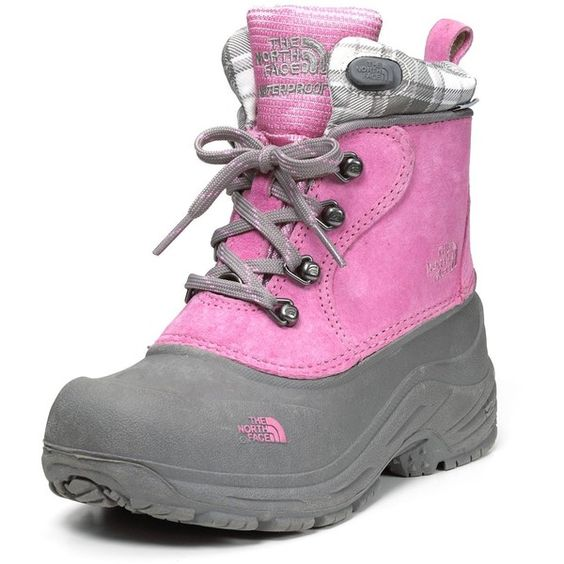 "The North Face® Girls' ""Chilkats"" Lace-up Boots ($60) ❤ liked on Polyvore"