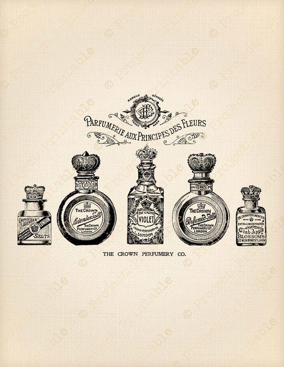Images perfumes para decoupage