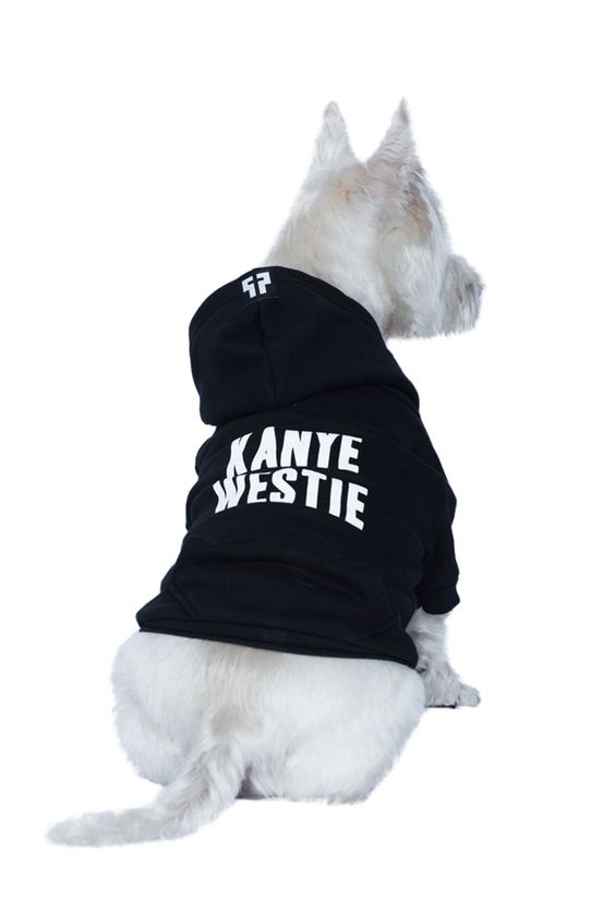 Kanye Westie Dog Zip-up Hoodie