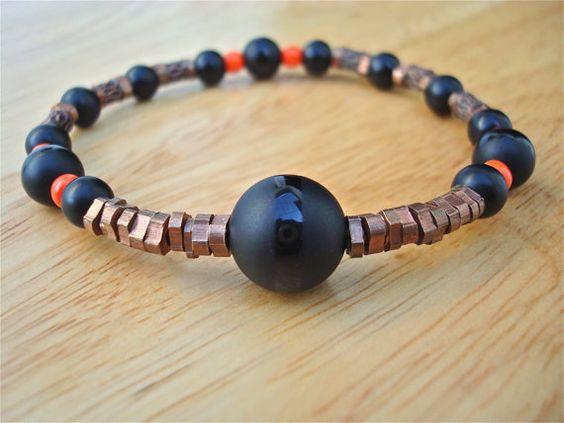 Men's Minimalist Spiritual Bracelet with Semi by tocijewelry, $38.00