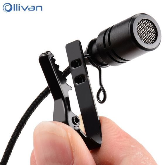Ollivan 2 5m Omnidirectional Metal Microphone 3 5mm Jack Lavalier Tie Clip Microphone Mini Audio Mic For Speech Lecture Compute Microphones Microphone Lavalier