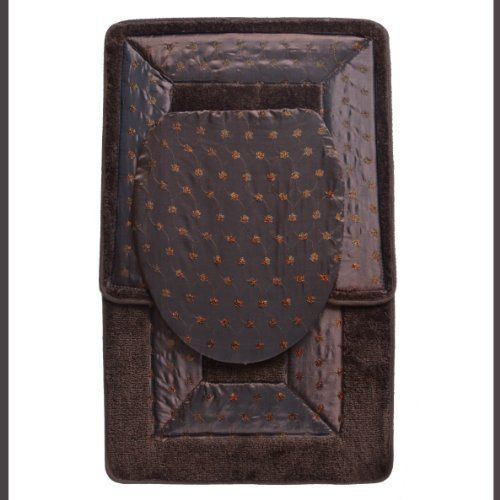 $14.95 BROWN 3 Piece Embroidered Bathroom Rug/mat Set. Bath Rug/mat, Contour Rug/mat, Toilet Seat Lid Cover  From BAM-TasticDeals   Get it here: http://astore.amazon.com/ffiilliipp-20/detail/B005P8I2H0/183-4573073-8199113: January 2014, 14 95, Embroidered Bathroom, Master Bathroom