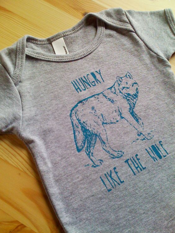 Funny Screen Print Baby TShirt Hungry Like The by TheCoinLaundry, $18.00