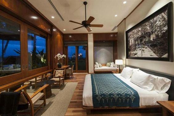 Tropical Bedroom: Teak Furniture, Plateform Bed, Punee, White Ceiling, Wood  Windows (slider?) | Waikoloa Remodel Ideas | Pinterest | Tropical Bedrooms,  ...