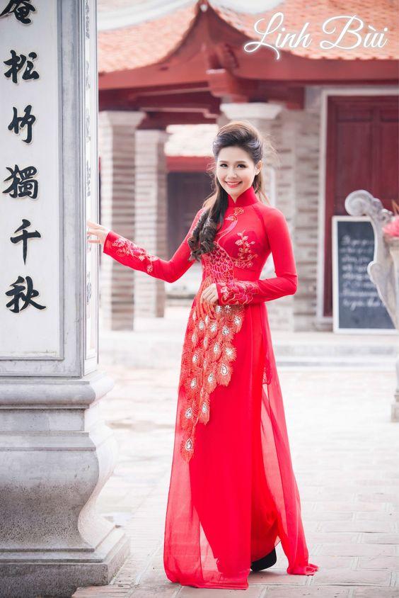 Thuê – May áo dài chất lượng nhất tại Linh Bùi