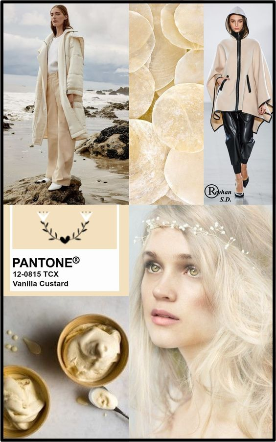 '' Vanilla Custard '' Pantone - Autumn/ Winter 2019/ 2020 Color- by Reyhan S.D.