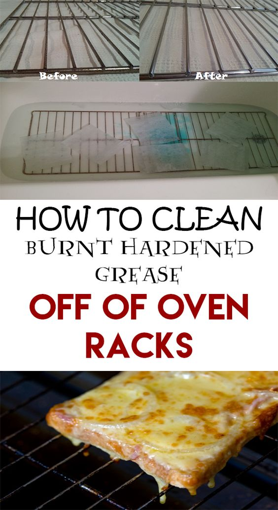 How to clean burnt hardened grease off of oven racks off of cleaning and ovens - Clean burnt grease oven pots pans ...