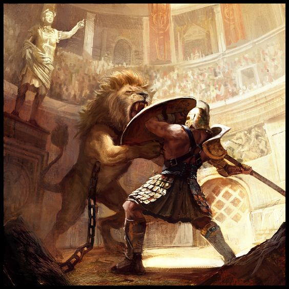 gladiator of rome fighting monsters