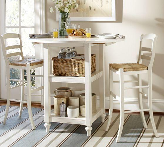Shayne drop leaf bar height table pottery barn south end apt pinterest kitchen tables - Shayne kitchen table ...