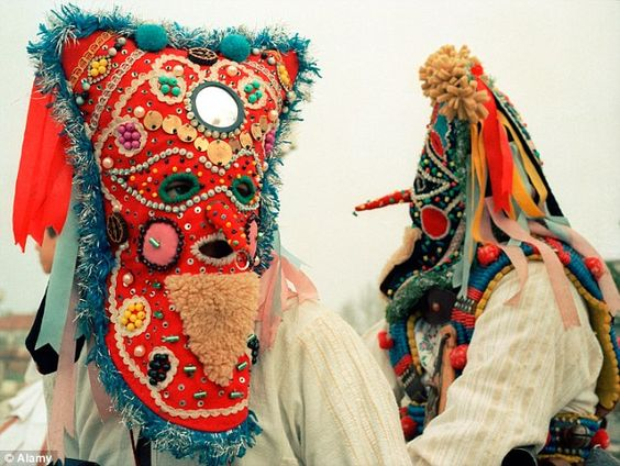 Bulgarian 'kukeri' believed to drive away evil spirits