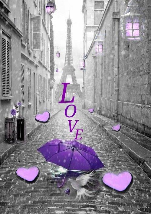 Pin By Cheryl Farnsworth On Hearts Love Bathroom Wallpaper Purple Purple Umbrella Purple Home