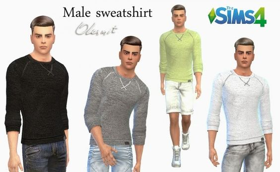 Clothing: Male sweatshirt from OleSims • Sims 4 Downloads