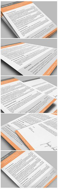 premium line of resume cover letter templates ms word and iwork