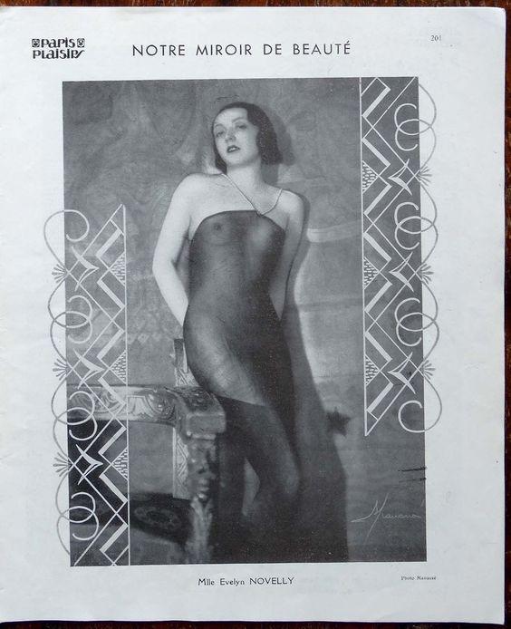 Mlle Evelyn Novelly, Paris Plaisirs No. 113, Novembre 1931. [Pinned 29-vi-2016]