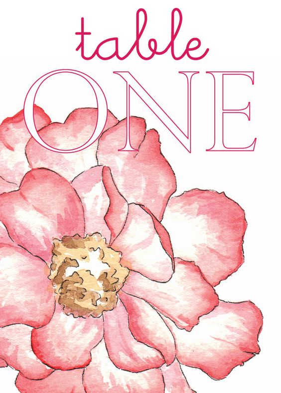 Wedding Table Numbers Table Toppers Floral 5x7 by Meant4amoment, $35.00