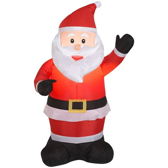 Airblown Santa Claus Available At These Retailers:  Ace Hardware, Garden Ridge, AAFES, Far East Brokers & Consultants Inc