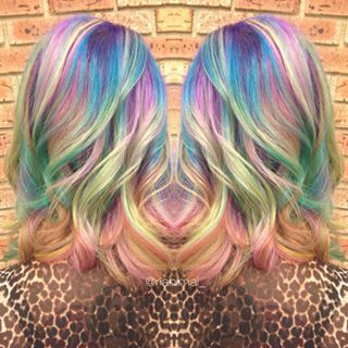 Hair goals. Opal hair color like a fluffy unicorn ...