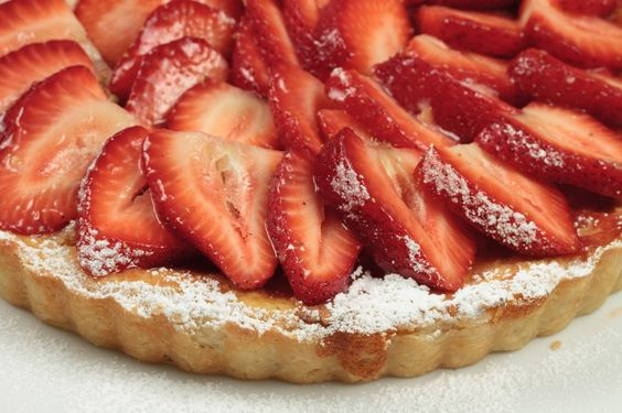 Strawberry & Ricotta Tart - a custard like filling in a buttery sweet pastry crust {Chef Dennis}