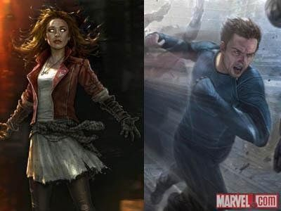 Avengers: Age of Ultron - Scarlet Witch and Quicksilver concept art