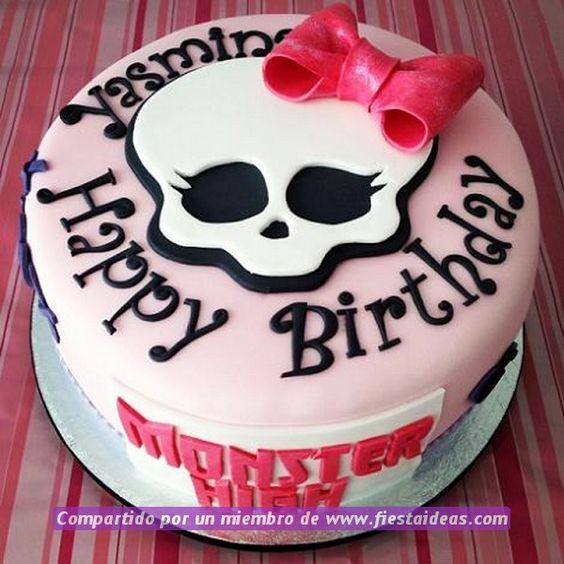 10 originales ideas de decoracion de tortas de Monster High